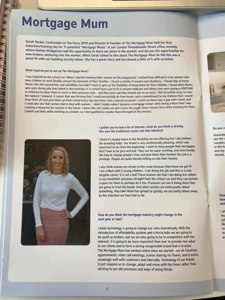 Sarah Tucker is interviewed by Nationwide Building Society